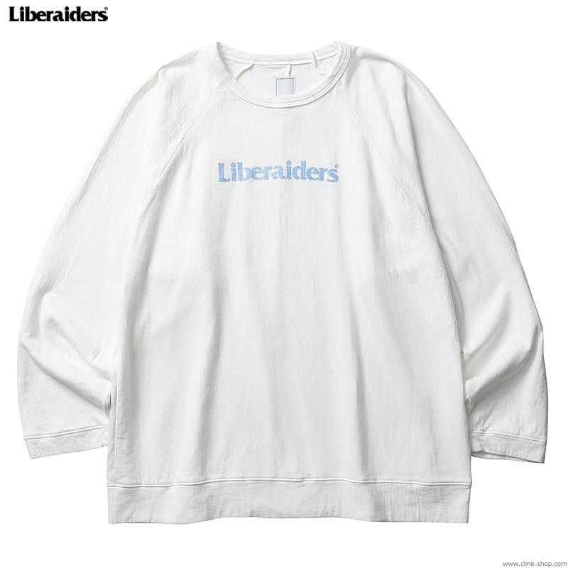 LIBERAIDERS 2LAYER CREWNECK (WHITE) #75305