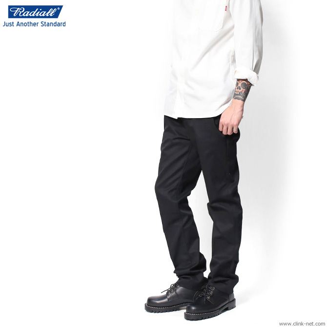 RADIALL CVS WORK PANTS -SLIM FIT- (BLACK)