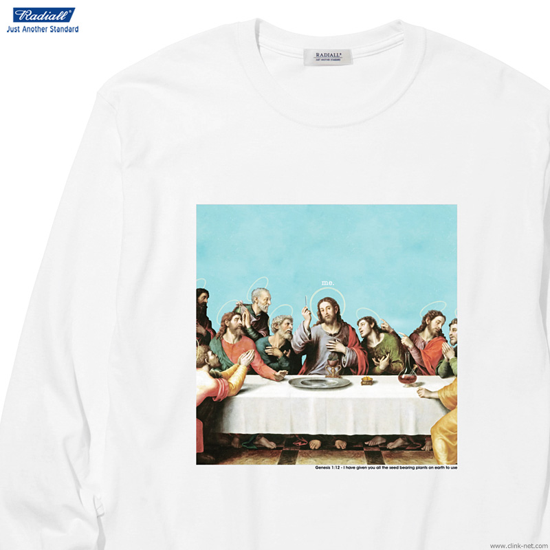 RADIALL HEDONISM - CREW NECK T-SHIRT L/S (WHITE)