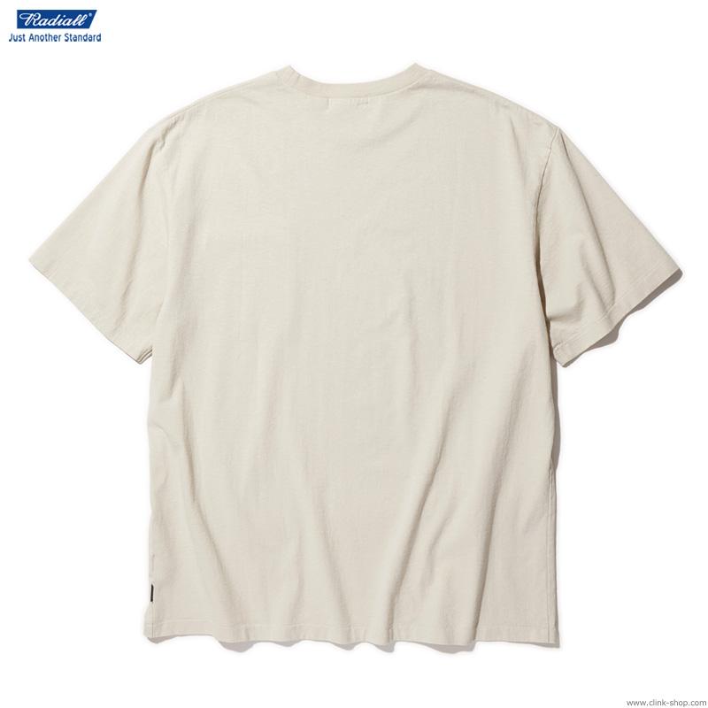 RADIALL LOGOTYPE - CREW NECK T-SHIRT S/S (SNOW WHITE)
