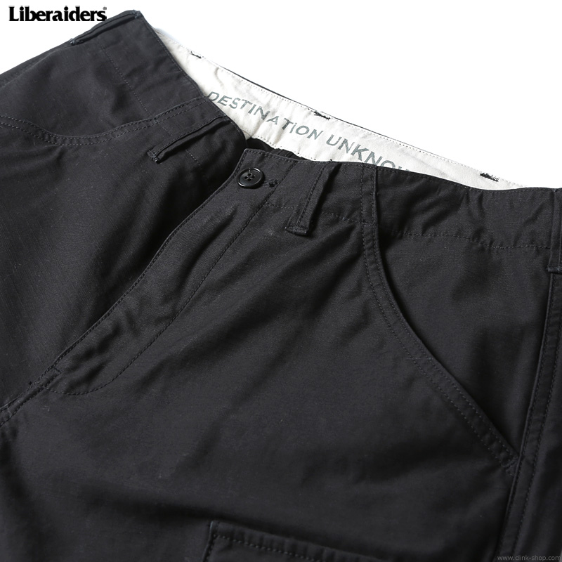 LIBERAIDERS 6 POCKET ARMY PANTS (BLACK) #75701