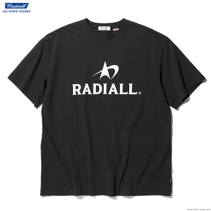 RADIALL LOGOTYPE - CREW NECK T-SHIRT S/S (INK BLACK)