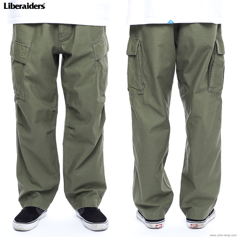 LIBERAIDERS 6 POCKET ARMY PANTS (OLIVE) #75701