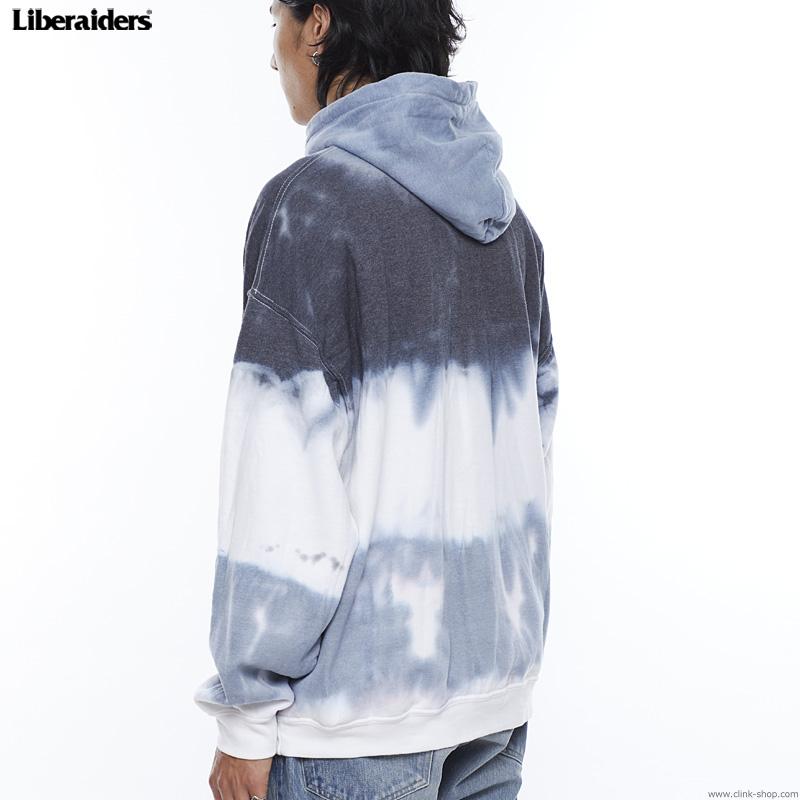 LIBERAIDERS TIE DYE PULLOVER HOODIE (BLACK) #74301