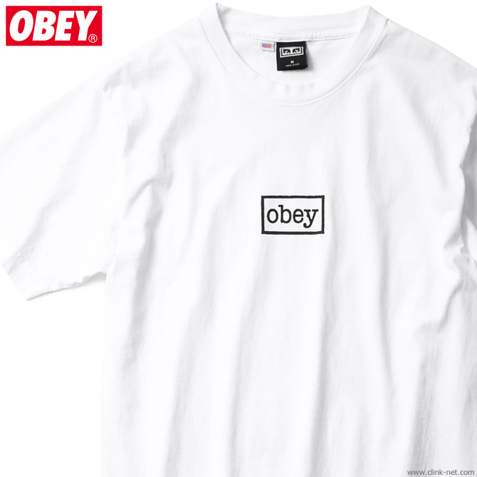 """OBEY HEAVYWEIGHT BOX TEE """"OBEY TYPEWRITTER"""" (WHITE)"""