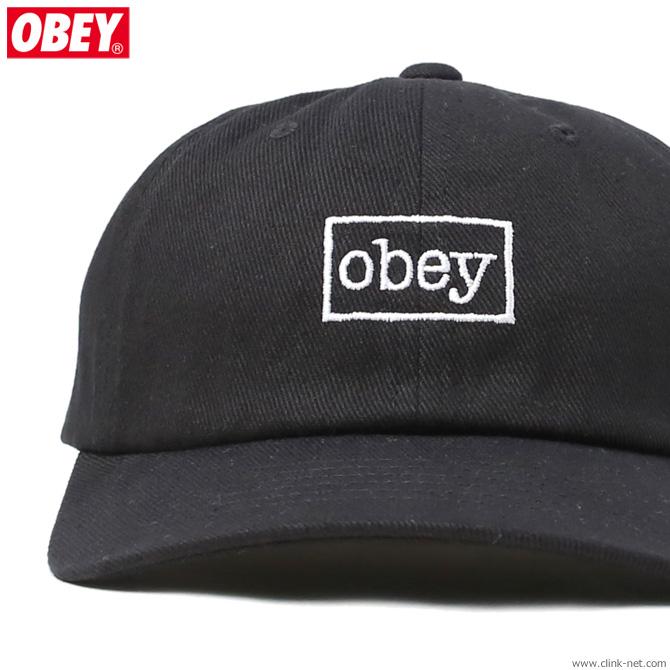 OBEY OUTLINE 6 PANEL SNAPBACK (BLACK)