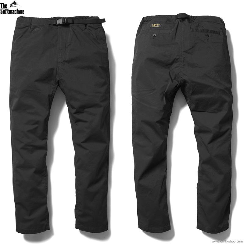 【追加予約/7月〜8月入荷予定】SOFTMACHINE BIVOUAC PANTS (BLACK)