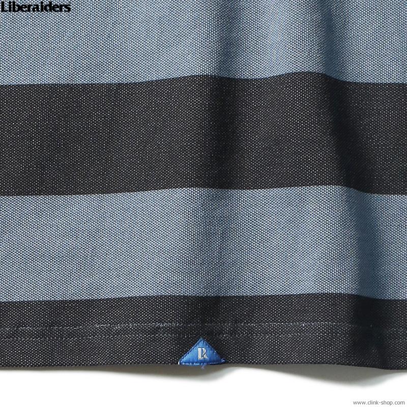 LIBERAIDERS STRIPE L/S TEE (BLUE) #72501