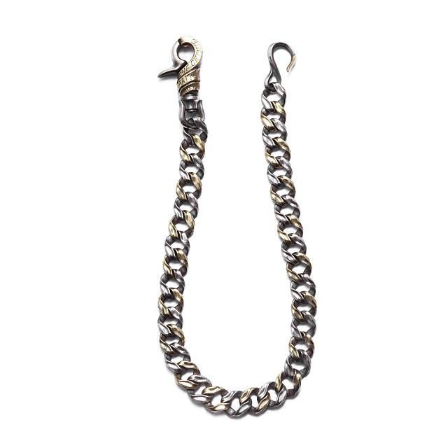 CRIMIE MIGHTY LONG WALLET CHAIN (SILVER×BRASS) [C1G1-CXAG-MW03]