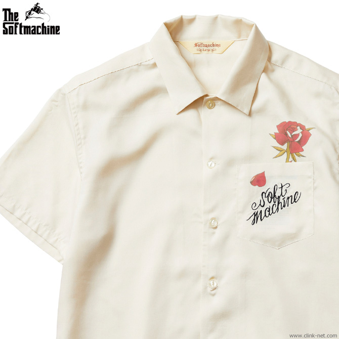 ★SALE★SOFTMACHINE OUT BLOOM SHIRTS (WHITE)
