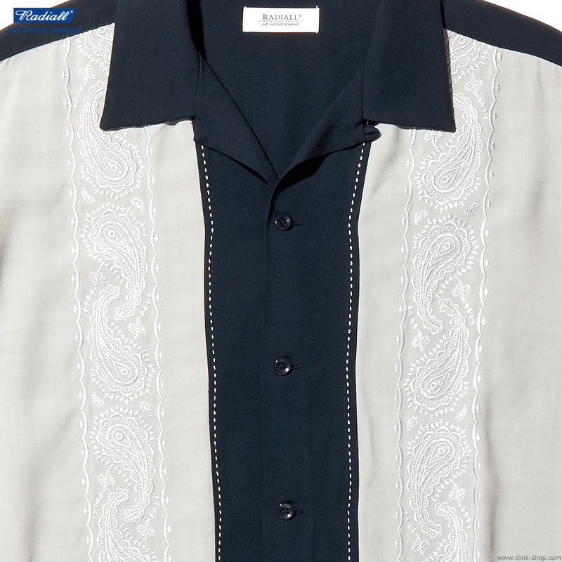 RADIALL ZENITH - OPEN COLLARED SHIRT S/S (NAVY)