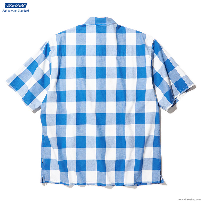 RADIALL SYNDICATE - REGULAR COLLARED SHIRT S/S (BLUE)