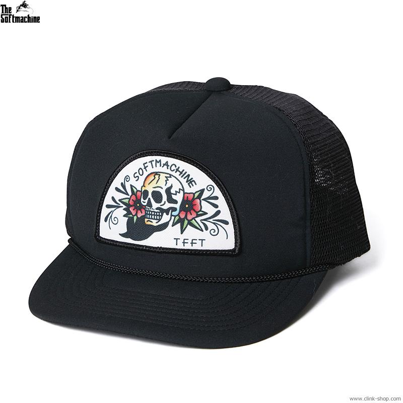 【追加予約/7月〜8月入荷予定】SOFTMACHINE WOO DOO CAP (BLACK)