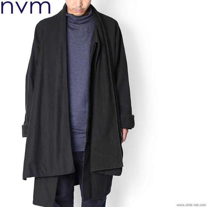 SALE 50%OFF NVM DRIFTER COAT (BLACK) [NVM17A-JK01]