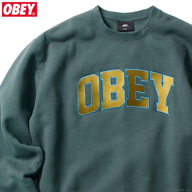 """OBEY CREW NECK FLEECE """"OBEY SPORTS CREW"""" (ALPINE)"""