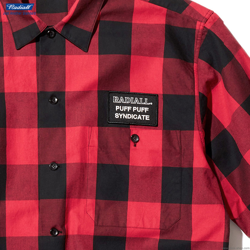 RADIALL SYNDICATE - REGULAR COLLARED SHIRT S/S (RED)