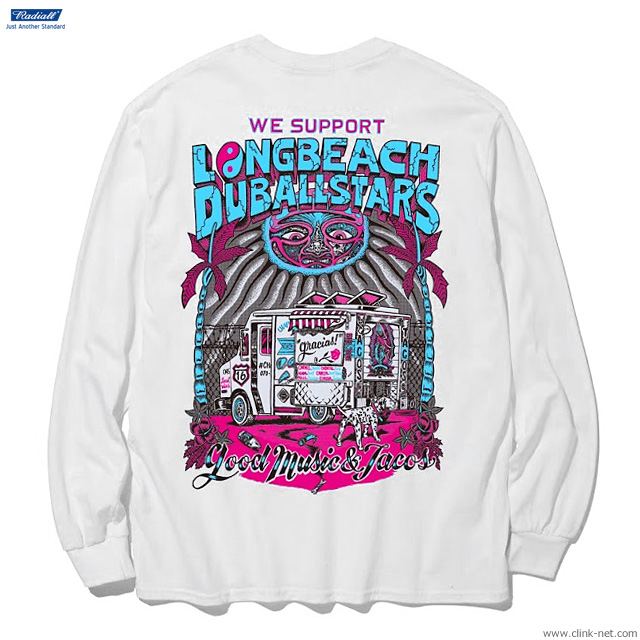 RADIALL LONG BEACH - CREW NECK T-SHIRT L/S (WHITE)