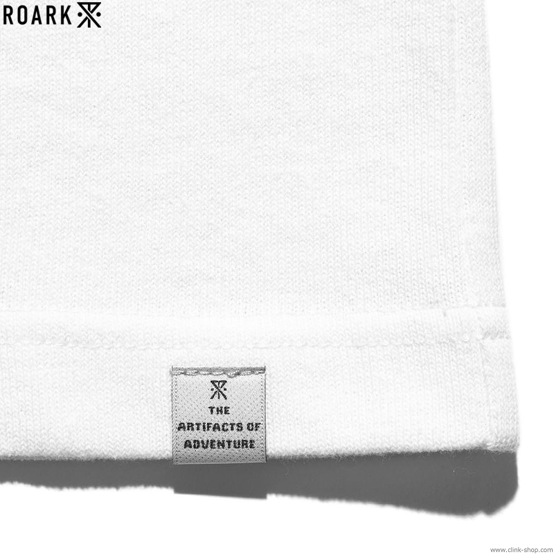 "ROARK REVIVAL ""LOGO"" FOOTBALL TEE (WHITE×BLACK)"