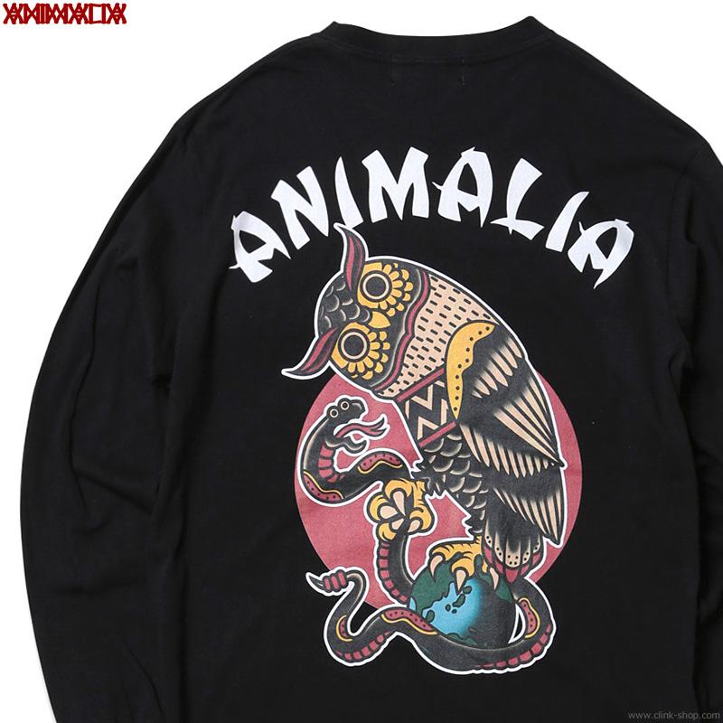 SALE 30%OFF ANIMALIA OWL / LONG (BLACK) [AN21S-TE06LS]