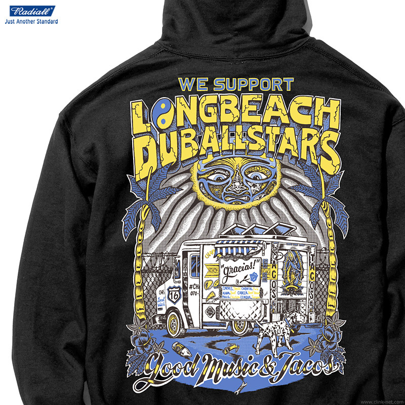 RADIALL LONG BEACH - HOODIE SWEATSHIRT L/S (BLACK)