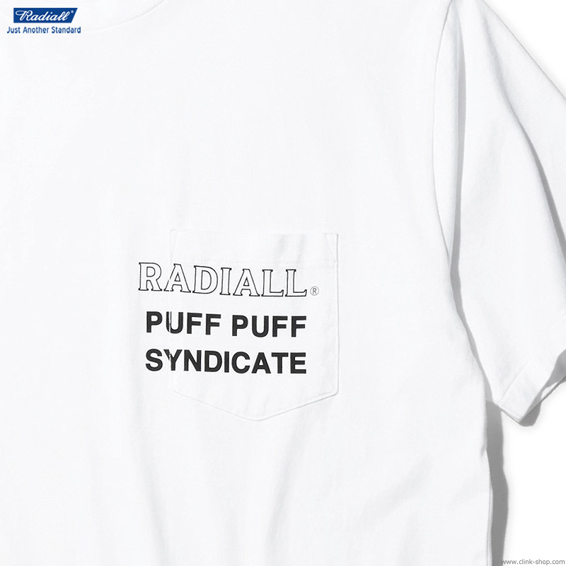 RADIALL SYNDICATE - CREW NECK POCKET T-SHIRT S/S (WHITE)