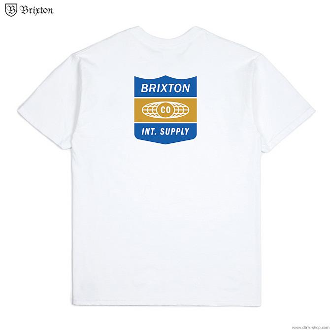 BRIXTON UNITED S/S STANDARD TEE (WHITE)