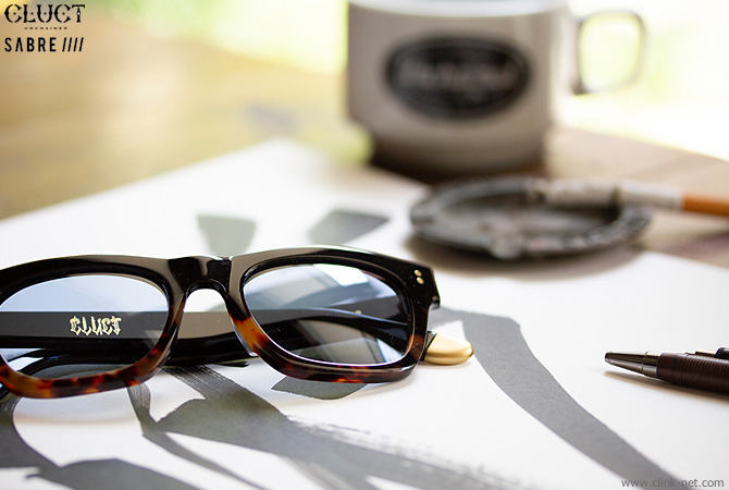 CLUCT × SABRE SUNGLASSIES (TWO TONE / GREY LENS) #04000