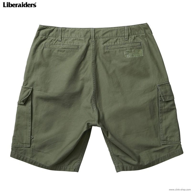 LIBERAIDERS 6 POCKET ARMY SHORTS (OLIVE) #75802