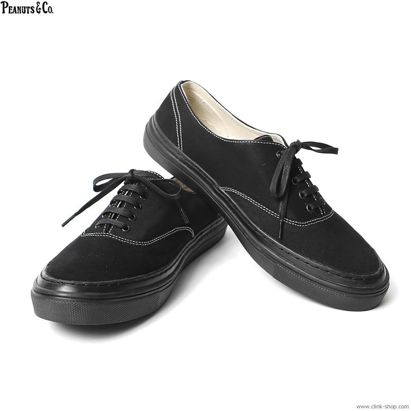 PEANUTS & CO. P-DECK SHOES (BLACK)