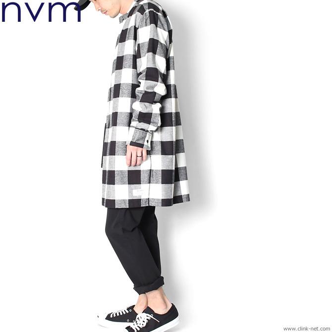 NVM CHECK LONG SH (WHT×BLK) [NVM17A-SH01]