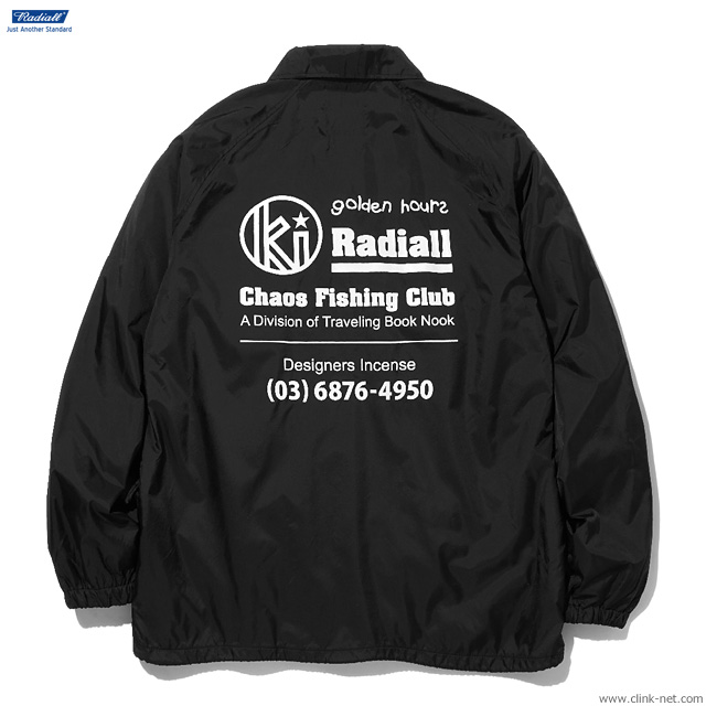 RADIALL GOLDEN HOURS - WINDBREAKER JACKET (BLACK)