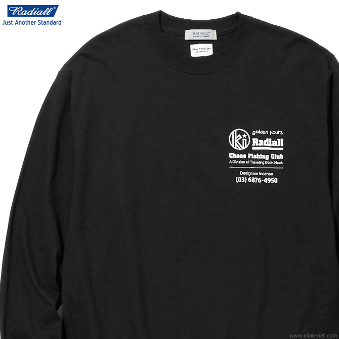 RADIALL GOLDEN HOURS - CREW NECK T-SHIRT L/S (BLACK)