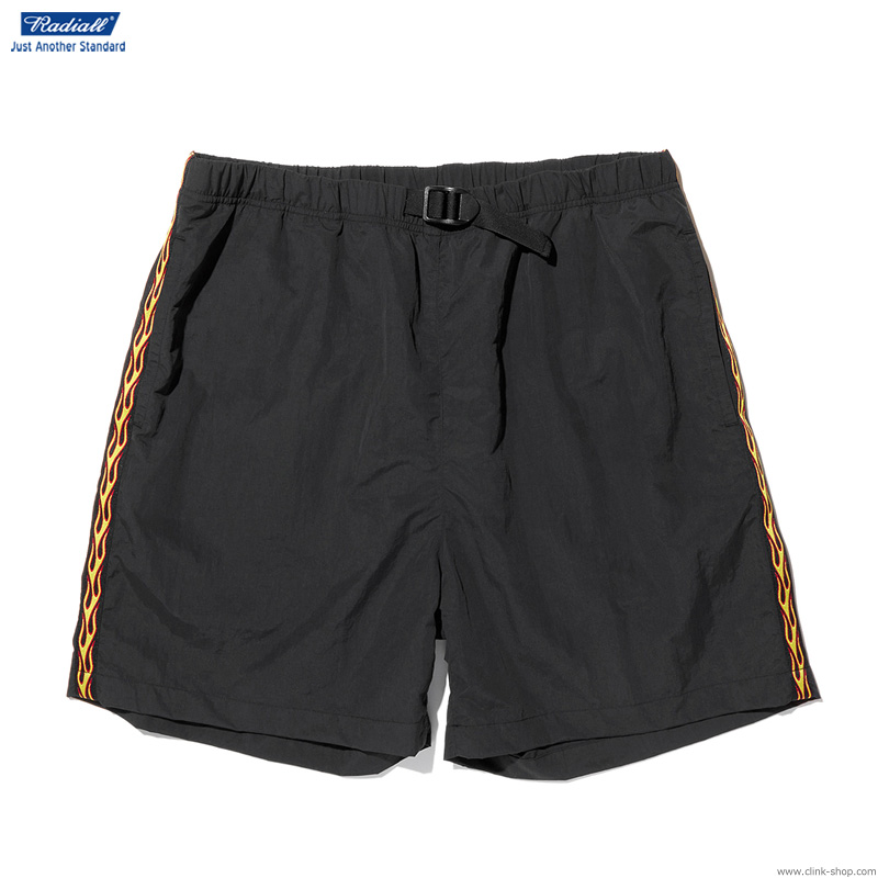 RADIALL FLAMES - EASY SHORTS (BLACK)