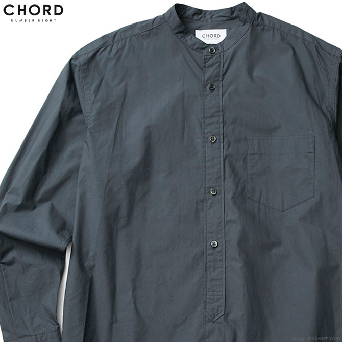 CHORD NUMBER EIGHT LONG SHIRT (CHARCOAL GRAY) [N8M1K1-SH05]