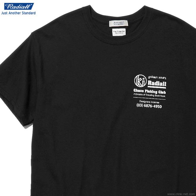 RADIALL GOLDEN HOURS - CREW NECK T-SHIRT S/S (BLACK)