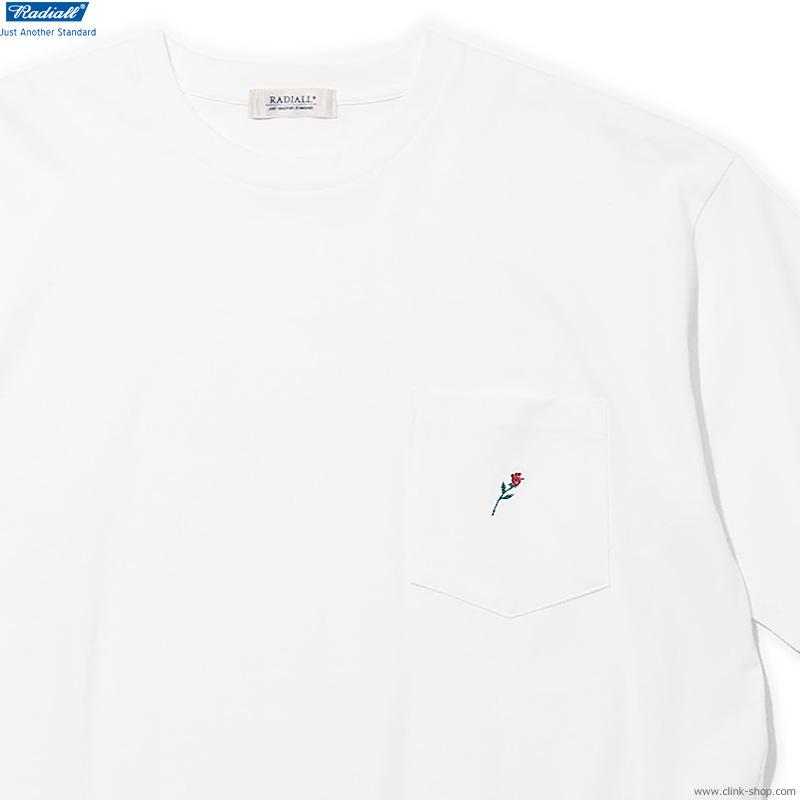 RADIALL ROSE - CREW NECK POCKET T-SHIRT S/S (WHITE)