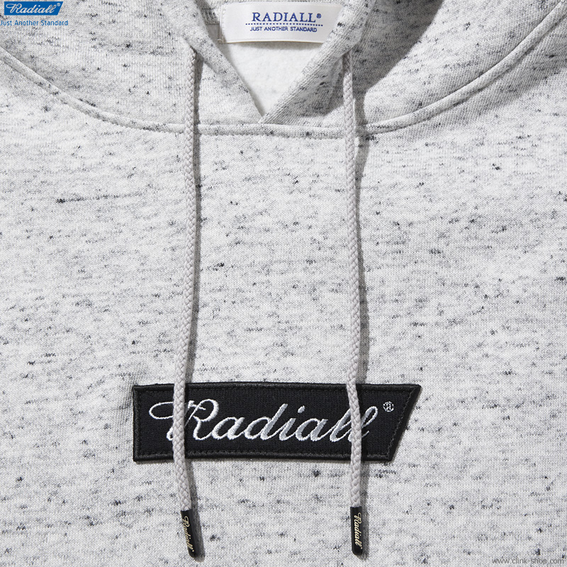 RADIALL FLAGS - HOODIE SWEATSHIRT L/S (ASH GRAY)