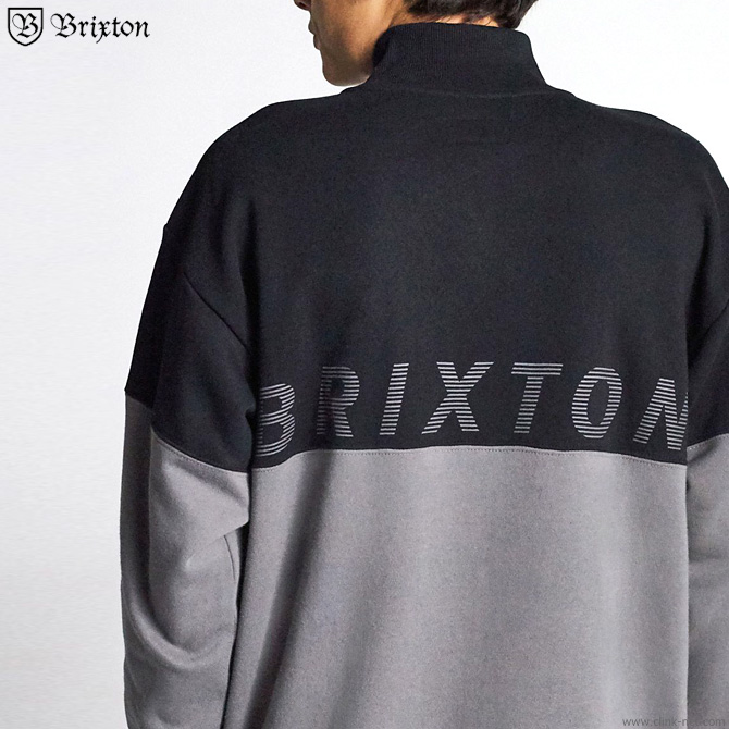 BRIXTON DIMENSION 1/2 ZIP (BLACK)