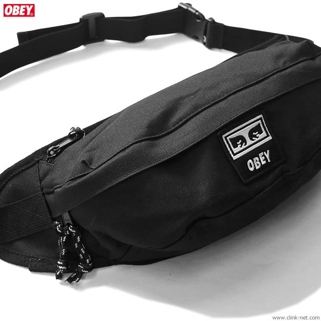 OBEY TAKEOVER SLING BAG (BLACK)