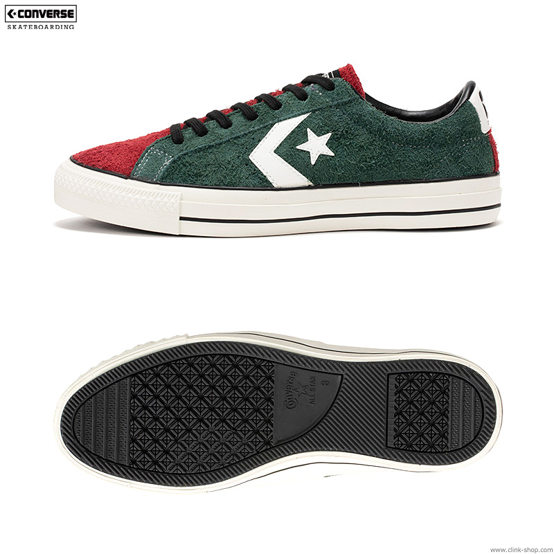 "CONVERSE SKATEBOARDING ""+ SERIES"" PRORIDE SK OX + (GREEN×RED×PURPLE)"