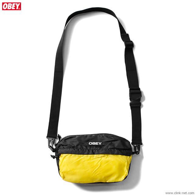 OBEY COMMUTER TRAVELER BAG (BLACK MULTI)