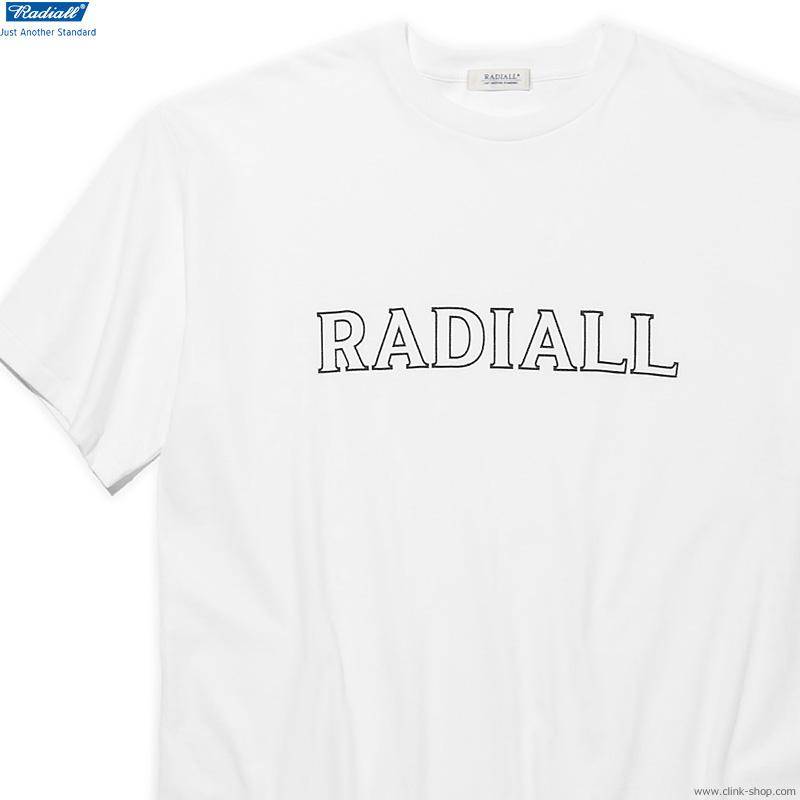 RADIALL OUTLINE - CREW NECK T-SHIRT S/S (WHITE)