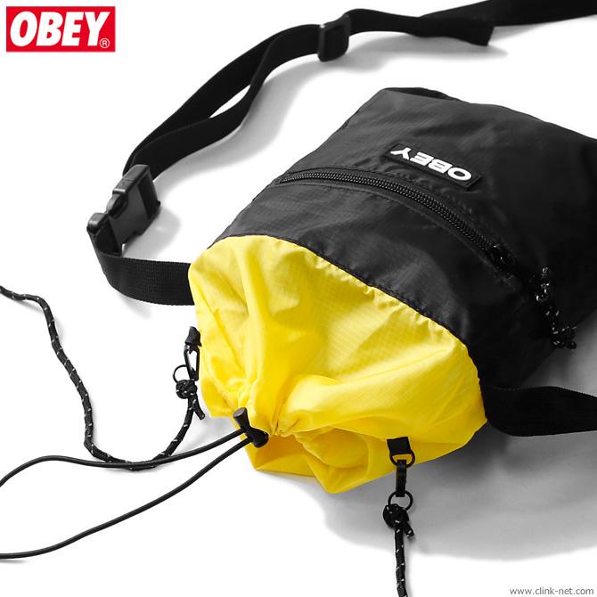 OBEY COMMUTER CINCH BAG (BLACK MULTI)