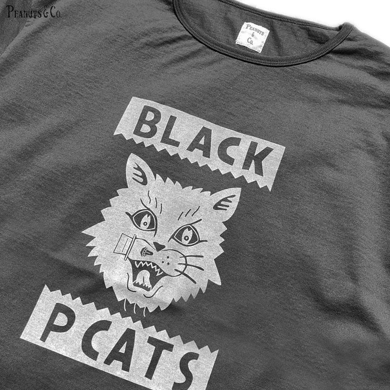 PEANUTS & CO. × MOTAS COLLABORATION BLACK CATS TEE (BLACK)