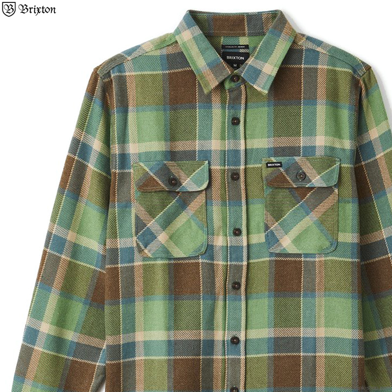 BRIXTON BOWERY L/S FLANNEL (TOFFEE)