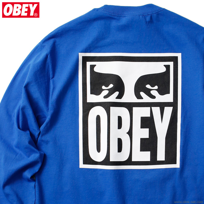 "OBEY BASIC LONG SLEEVE TEE ""OBEY EYES ICON"" (ROYAL BLUE)"