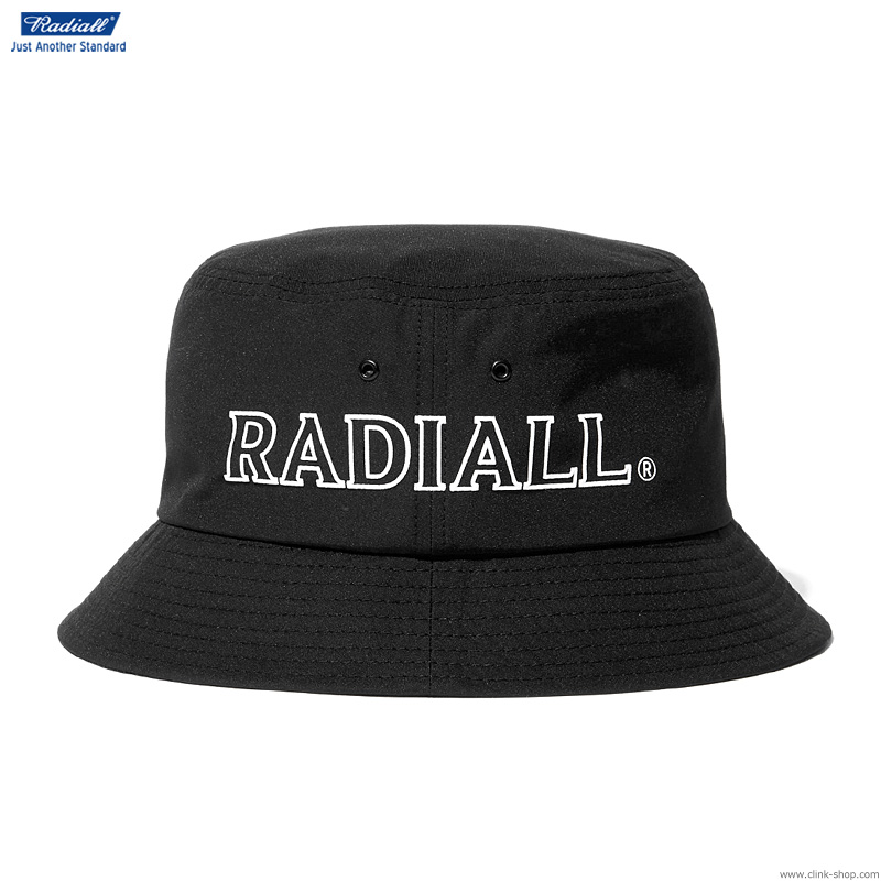 RADIALL LOGOTYPE - BUCKET HAT (BLACK)
