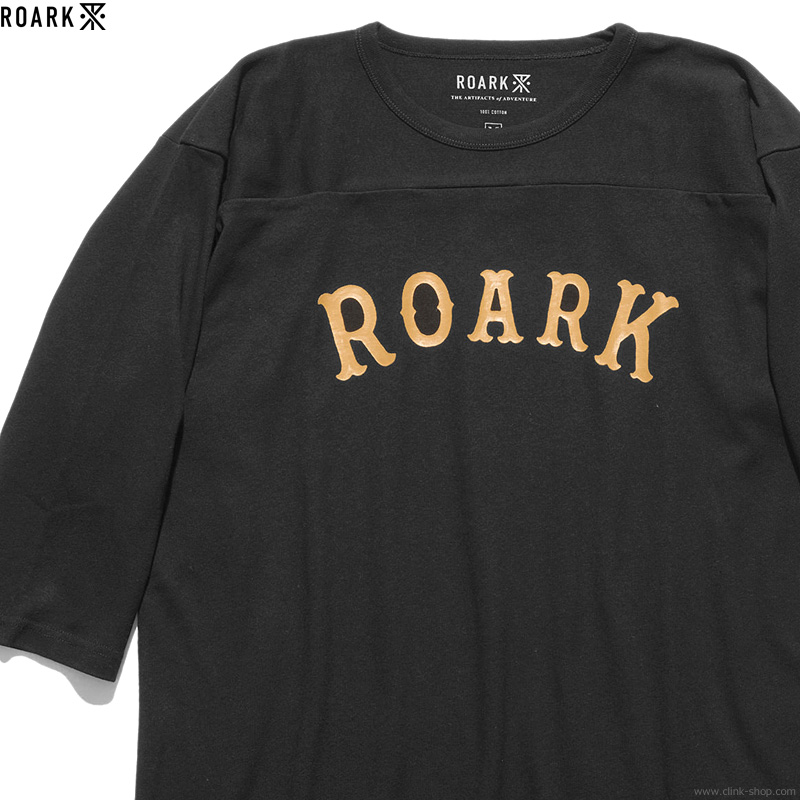 "ROARK REVIVAL ""MEDIEVAL LOGO"" FOOTBALL TEE (BLACK)"