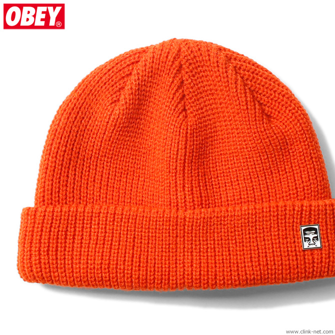 OBEY MICRO BEANIE (BURNT RED)