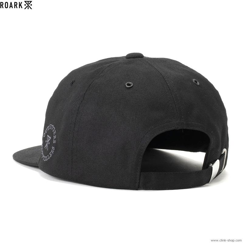 """ROARK REVIVAL """"MEDIEVAL"""" SHELTECH 6PANEL CAP (BLACK)"""
